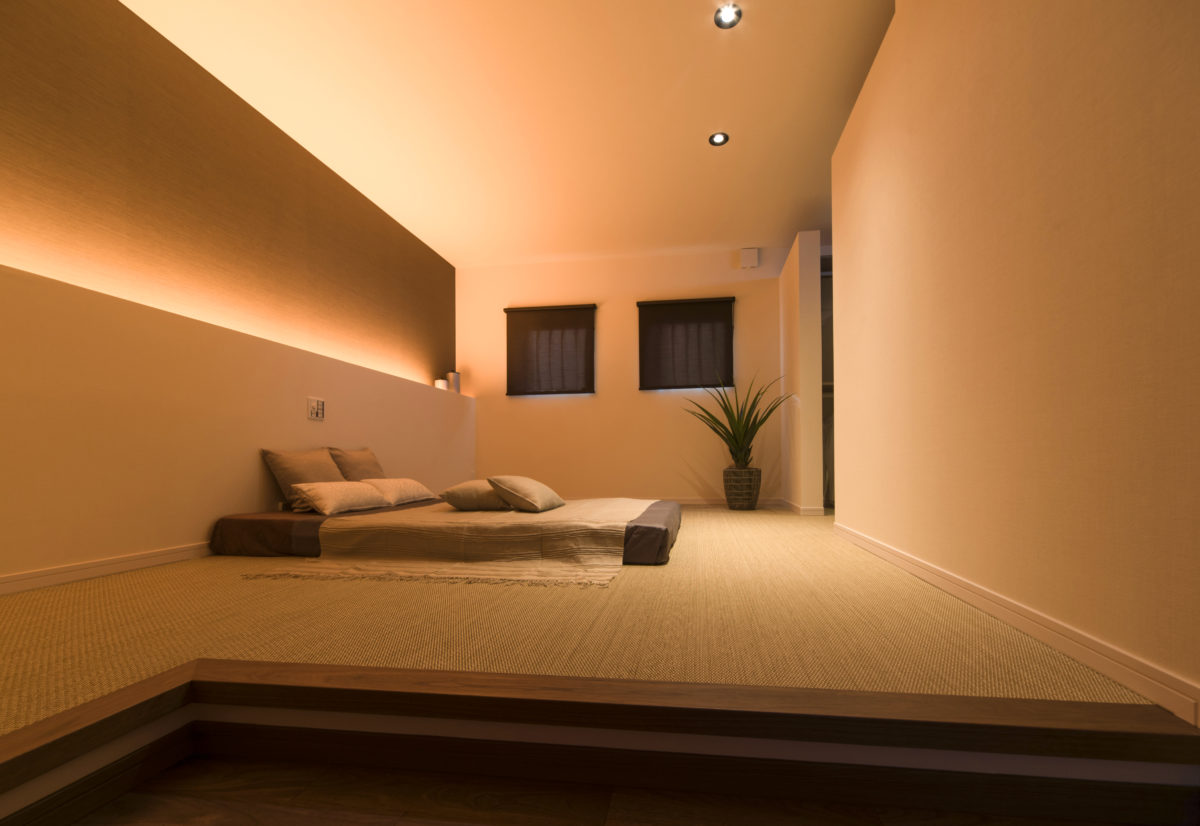 入眠を優しく促すこの間接照明づかいはクオレならではです。